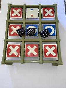 Vintage Toss Across Game By IDEAL 1970 Original Tic Tac Toe Family Fun Night