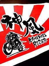 "Tenugui Japanese traditional Bandana ""KAMIKAZE RIDER"""