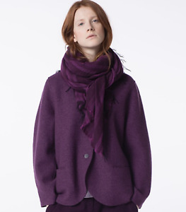 OSKA Gisla Purple Boiled Wool Jacket Size1 S UK8 UK10 UK12 RRP £290 *IMMACULATE*