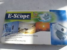UNUSED OLD MENTOR E-SCOPE WEBCAM USB PERHAPS 12 YEARS OLD.