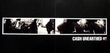 JOHNNY CASH 2003 2 sided unearthed B&W promo poster ~MINT cond. NEW old stock~!