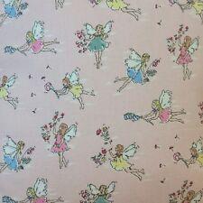 Cath Kidston Garden Fairies Cotton Duck Fabric Pink Fairy Fabric FQ By The Metre