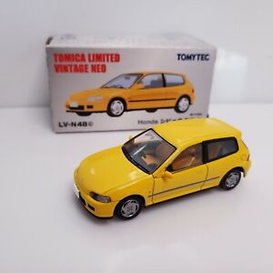 Rare Tomica Limited Vintage Neo Honda Civic SiR II EG6 Yellow LV-N48c Japan