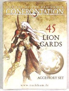 Rackham Confrontation 45 Lion Cards Accessory Set NEW!