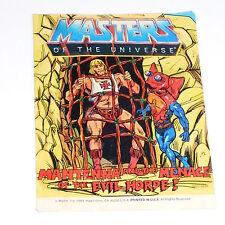 Vintage MOTU Masters of the Universe He-Man Mini Comic MANTENNA mal utilisé/H48