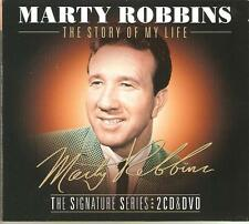 MARTY ROBBINS THE STORY OF MY LIFE - THE SIGNATURE SERIES 2 CD'S & DVD