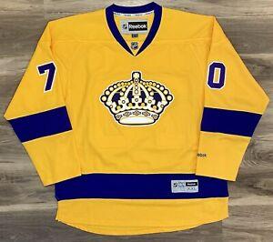 LA Los Angeles Kings Tanner Pearson NHL Hockey Jersey Reebok Premier Gold Retro