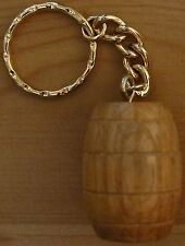 """Solid Oak Barrel"" key ring dart sharpener."