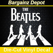 .. Vinyl Decal .. THE BEATLES ABBEY ROAD .. 3D Look Laptop Car Sticker Decal