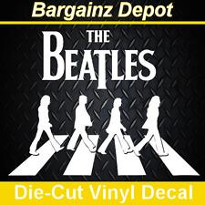 .. Vinyl Decal .. THE BEATLES ABBEY ROAD .. 3D Look Laptop Car Sticker Decal