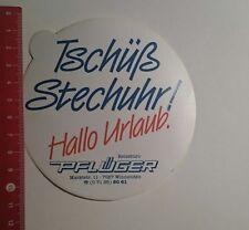 Aufkleber/Sticker: Tschüß Stechuhr Hallo Urlaub Pflüger (111116171)