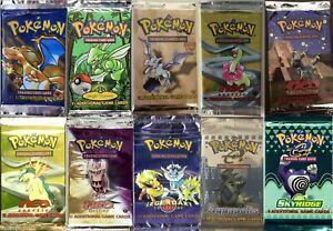 Pokemon Tcg Booster Packs Only 400 Packs Total Base Set Aquapolis Skyridge Neo