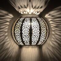 Orientalische Lampe Wandlampe Marokkanische Metall Wandleuchte Orient KWKS