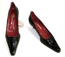 MOSQUITOS Zapatos tacón bajo en piel negro 5 38/38.5 MUY BUEN ESTADO