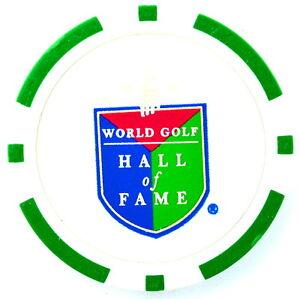 WORLD GOLF HALL OF FAME (Green) POKER CHIP Golf BALL MARKER