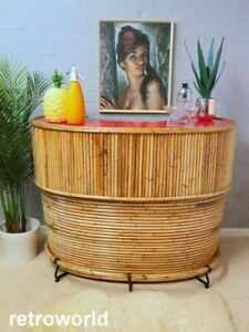 Mid Century Vintage Retro 50s 60s TIKI Bamboo Cocktail Drinks Home Bar Cabinet