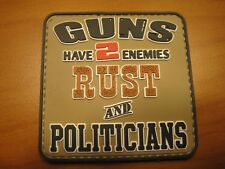 """TACTICAL MORALE PATCH """" GUNS HAVE TWO ENEMIES """" HOOK BACK LOOK NOW AND BUY!!"""