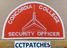 CONCORDIA COLLEGE, MICHIGAN SECURITY OFFICER (POLICE) SHOULDER PATCH MI