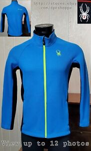"Spyder Encore ""Youth"" Full Zip Blue Fleece Activewear Jacket Sz XL 18"