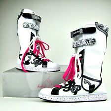 Baby Phat Womens Size 9- White Pink Black Shoes High Tops Boots Sneakers Rare!