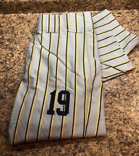 New Boombah Baseball Softball Pants Grey Yellow Navy Blue Mens 36 Custom Pin