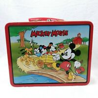 Vintage Mickey Mouse Children Collectible Metal Lunchbox (Series 1, Year 1996)