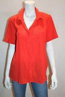 Millers Brand Burnt Orange Pintuck Short Sleeve Shirt Top Size 12 BNWT #SS32