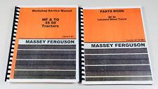 Lot Massey Ferguson 50 Tractor Parts Catalog Service Repair Manual Shop Book