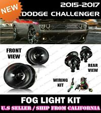 15 16 17 18 DODGE CHALLENGER Fog Light Driving Lamp Kit w/ switch wiring (CLEAR)