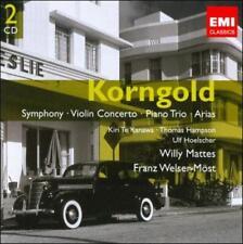 KORNGOLD: SYMPHONY; VIOLIN CONCERTO; PIANO TRIO; ARIAS NEW CD