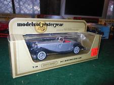 MATCHBOX MODELS OF YESTERYEAR Y-20 1937 MERCEDES-BENZ 540K MINT IN ORIGINAL BOX
