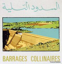 BARRAGES COLLINAIRES MAROC MOROCCO ENVELOPPE  PREMIER JOUR  FDC MA803