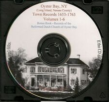 Oyster Bay Town Records 1653-1763 - Volumes 1-6 - Holiday SALE