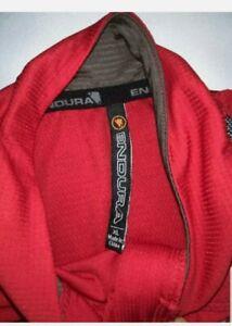 Endura Men's Hummvee Lite Jersey Cycling Bike XL Short Sleeve Black/Red