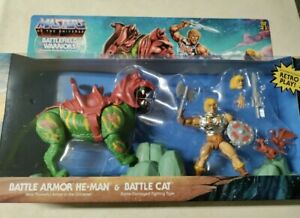 Masters Of The Universe Origins Battlefield Warriors He-Man & BattleCat IN HAND!