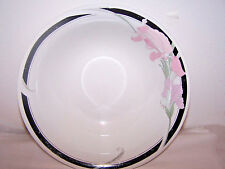 Gibson Helena Serving Bowl Vintage White Black Floral Dinnerware China 9\  dia & Gibson Floral Dinnerware \u0026 Serving Dishes | eBay