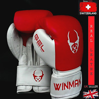 Boxing Gloves Leather Sparring Punch Bag Muay Thai MMA Gloves Leather