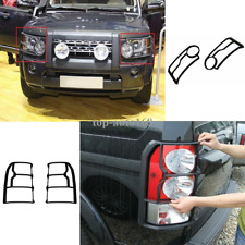 4X Front Rear Head Light Lamp Guards Cover For 10-13 Land Rover LR4 Discovery 4