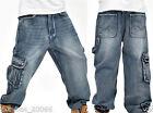 Graffiti embroidery Cool Men's Hip Hop Jeans Casual Pants Size 32-42 C011