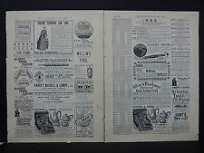 Illustrated London News Ads Two Pages c.1888 S3#4 Spring Fashions for 1888