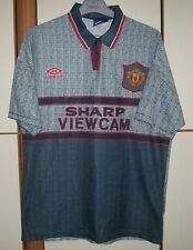 Manchester United 1995 - 1996 Away football shirt jersey Umbro size L