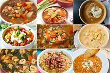 Soup Cookbook Ebook in PDF 1,718 Recipes! On CD FREE SHIPPING