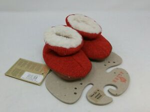 Acorn Baby Red Knit Bootie Slippers Size 6-12 Months