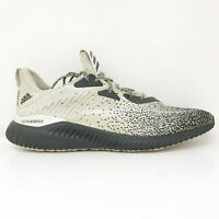Adidas Mens Alphabounce CK CQ0406 Beige Black Running Shoes Lace Up Size 12