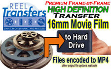 REEL TRANSFERS- High Definition transfer 16mm film to HDD (service)