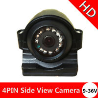 4PIN CCD Night Vision Rear Side View Reverse HD Camera Bus Truck Trailer Caravan