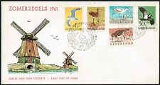 2809 NETHERLANDS FDC COVER 1961 BIRDS