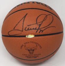 SCOTTIE PIPPEN Autographed 1996 Championship Spalding Basketball UDA
