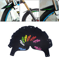 1 Set MTB Mudguard Mountain Bike Bicycle Fender Front Ride Mud Enduro Guard Kit