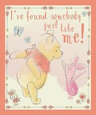 "Disney Winnie the Pooh Found Somebody Panel 100% cotton 44"" Fabric by the panel"